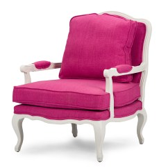 Pink Accent Chair Custom Covers Canberra Baxton Studio Antoinette Classic Antiqued Fabric
