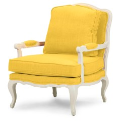 Accent Chair Yellow Eclectic Dining Chairs Baxton Studio Antoinette Classic Antiqued Fabric