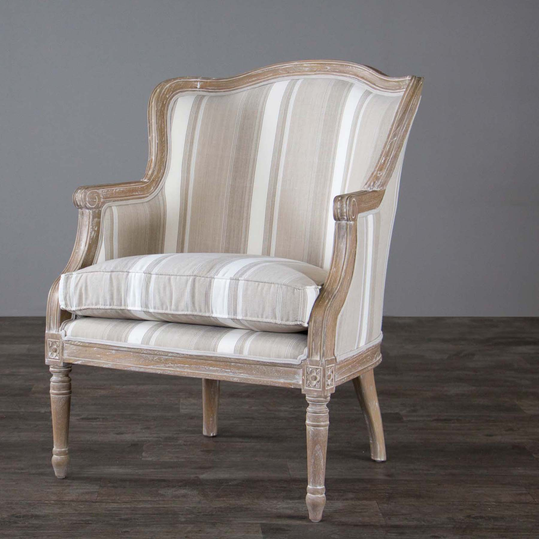 Studio Chairs Baxton Studio Charlemagne Traditional French Accent Chair