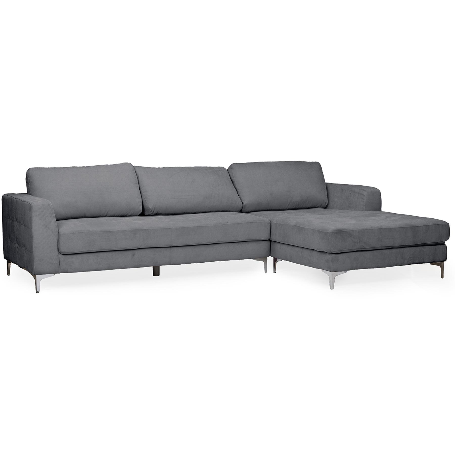 gray microfiber sectional sofas habitat sleigh sofa baxton studio agnew contemporary grey right