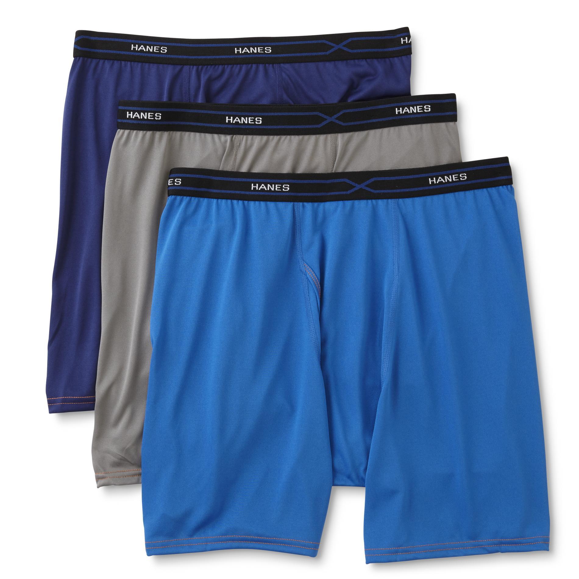 Hanes Men' 4-pairs X-temp Boxer Briefs