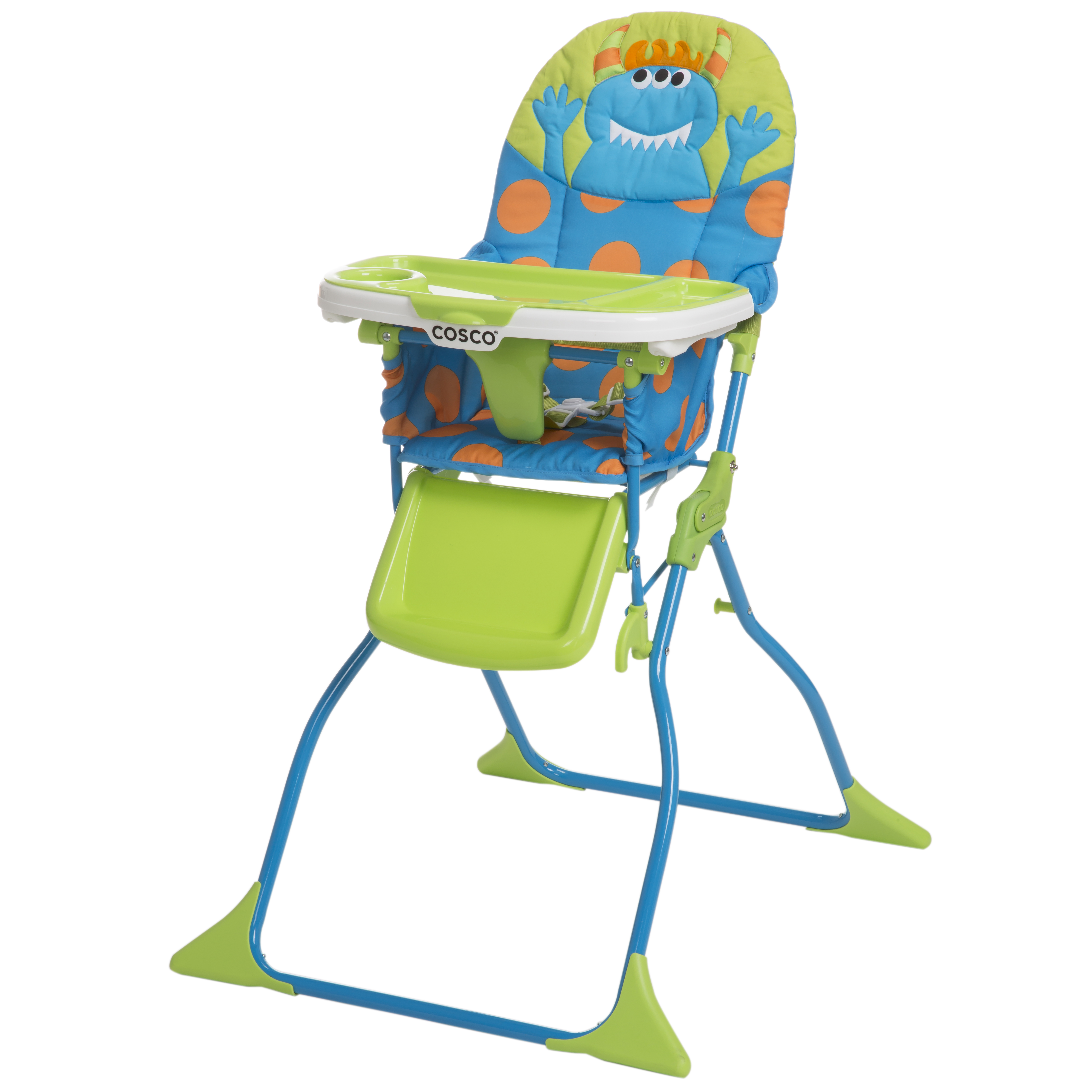 cosco high chair cover rubber glides chairs boosters kmart simple fold deluxe monster syd