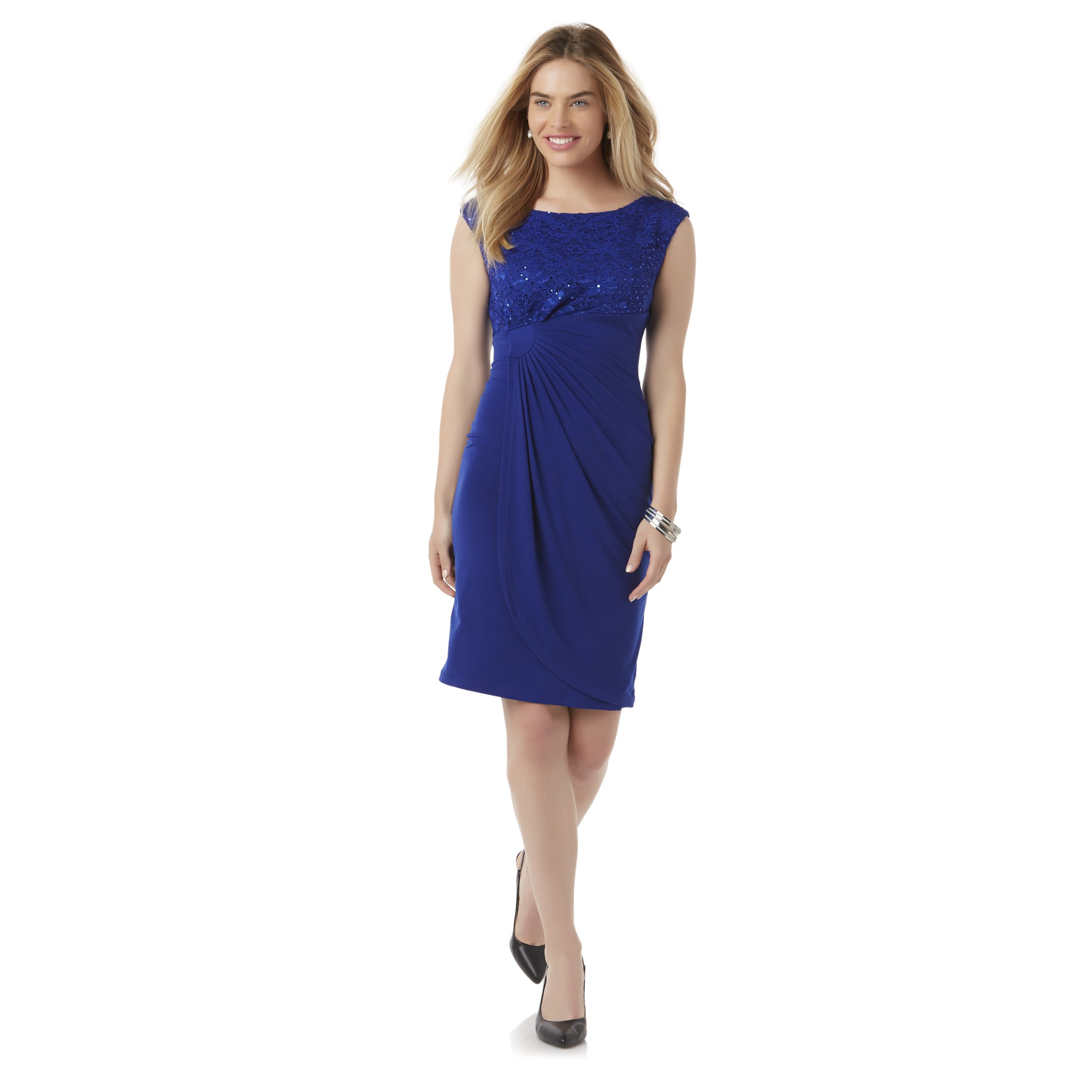 Connected Apparel Women39s Gathered Sheath Dress