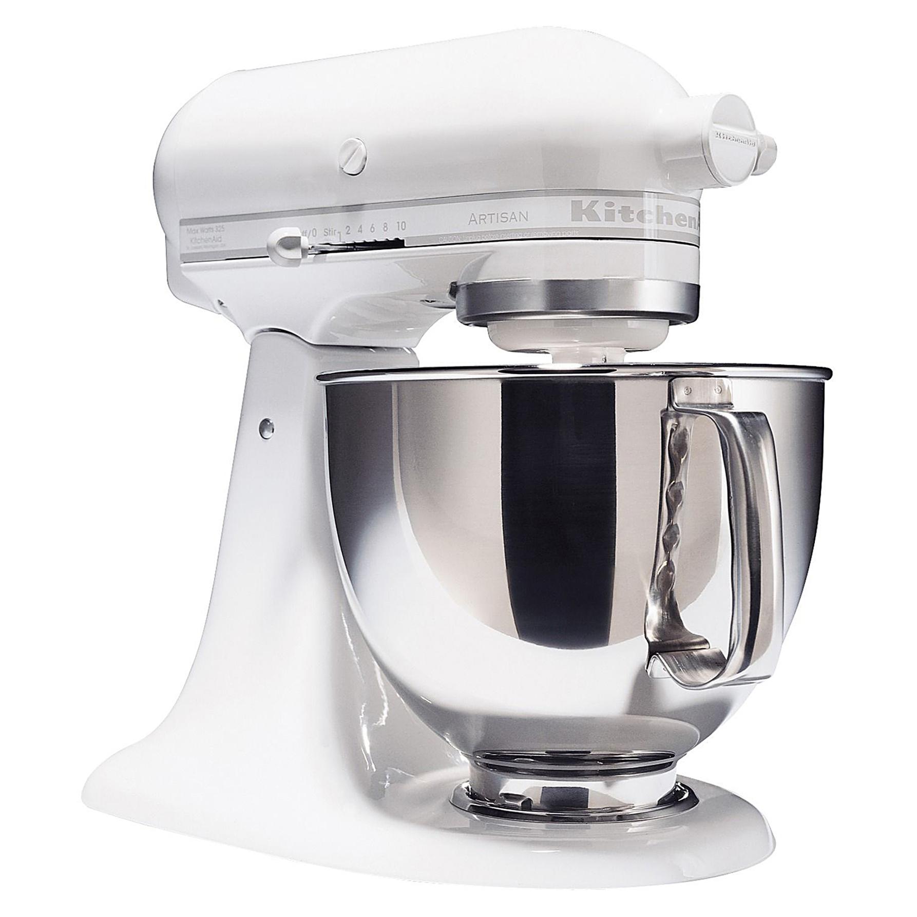 KitchenAid KSM150PSWW Artisan Series White On White 5