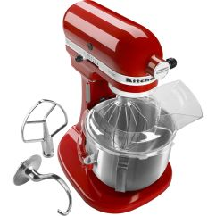 Kitchen Aid Professional Moen Faucets Lowes Kitchenaid Ksm500pser Pro 500 Series 5 Quart Bowl Lift Stand Mixer Empire Red