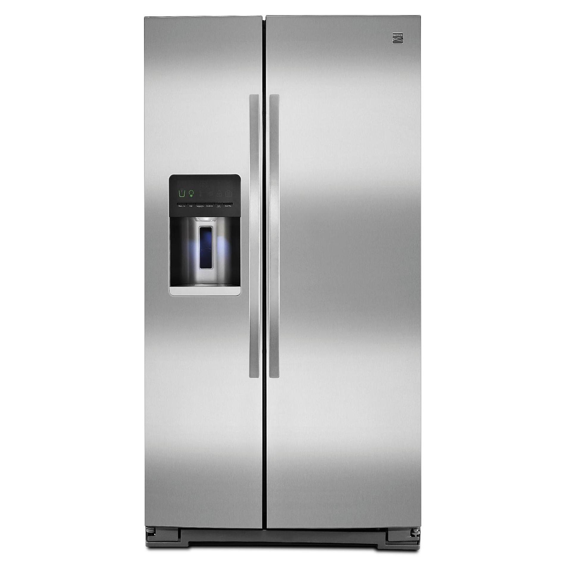 small resolution of side by side refrigerator stainless steel