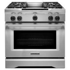 Outdoor Kitchen Griddle American Standard Quince Faucet Kitchenaid Kdrs463vss Pro-style® 36