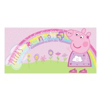 HIT Entertainment Peppa Pig Rainbow Fun 3D Body Pillow ...