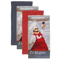 Kitchen Towel California Pizza Franchise Towels Kmart Essential Home 4 Pack Solid Set Caf 233