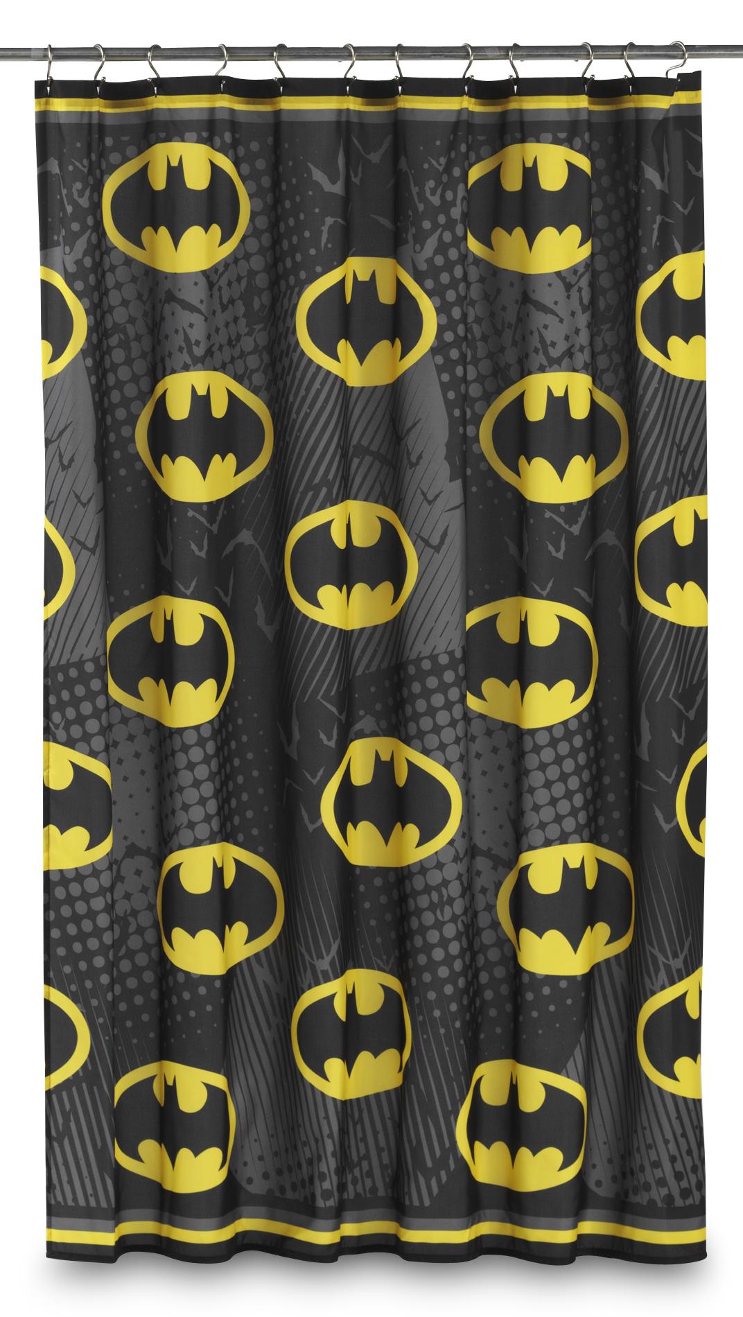 DC Comics Batman Fabric Shower Curtain  Bat Symbol  Home