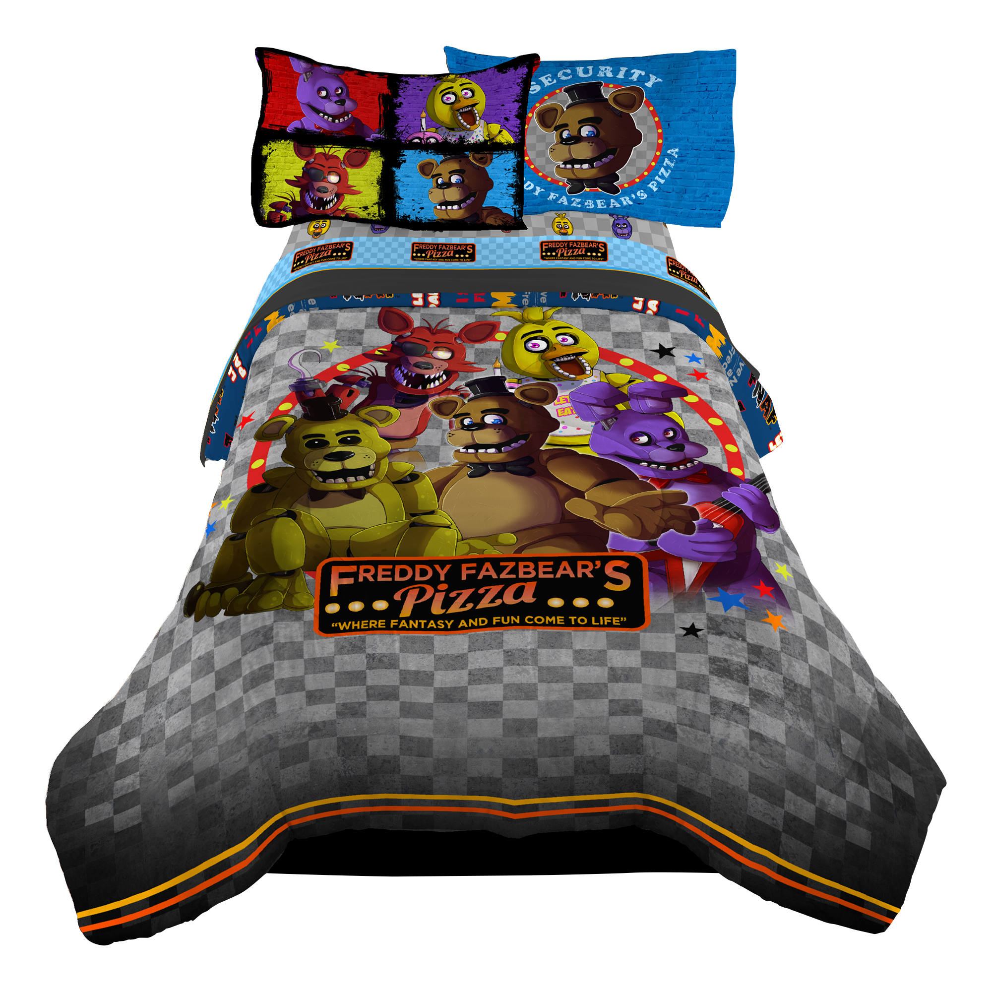 STRIKER Five Nights At Freddy s Kids Twin Comforter Pizza