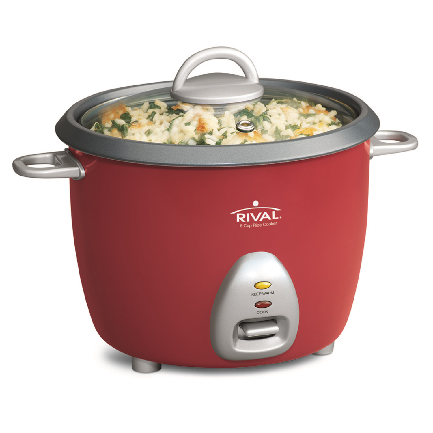 Rival 4010384 6-cup Cooked Rice Cooker Red
