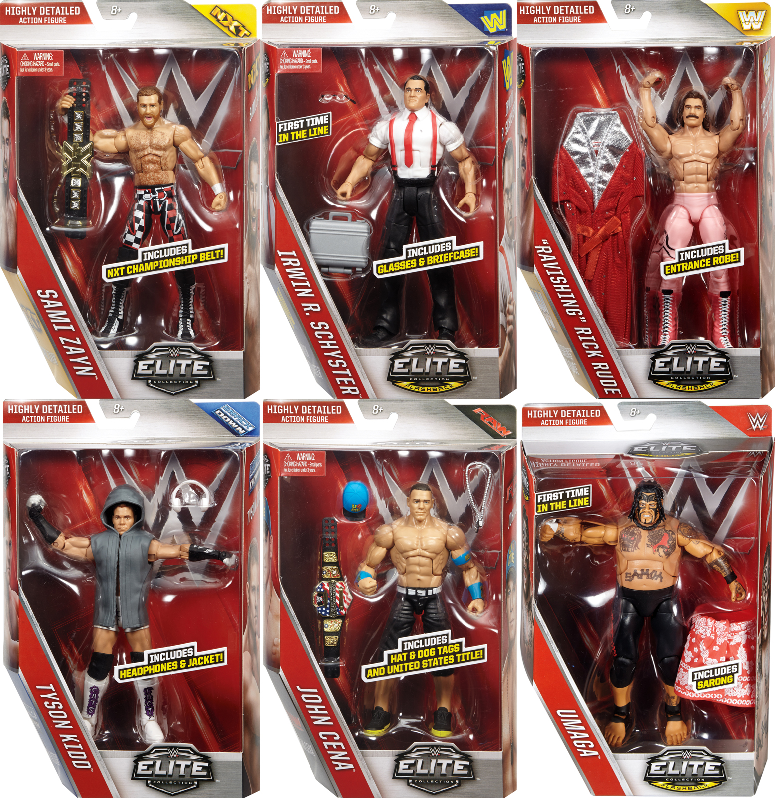 WWE Elite 40 Complete Set Of 6 Toy Wrestling Action Figures