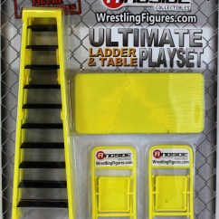Wrestling Chairs For Sale Solid Wood High Chair Wwe Ultimate Ladder And Table Playset Yellow Ringside