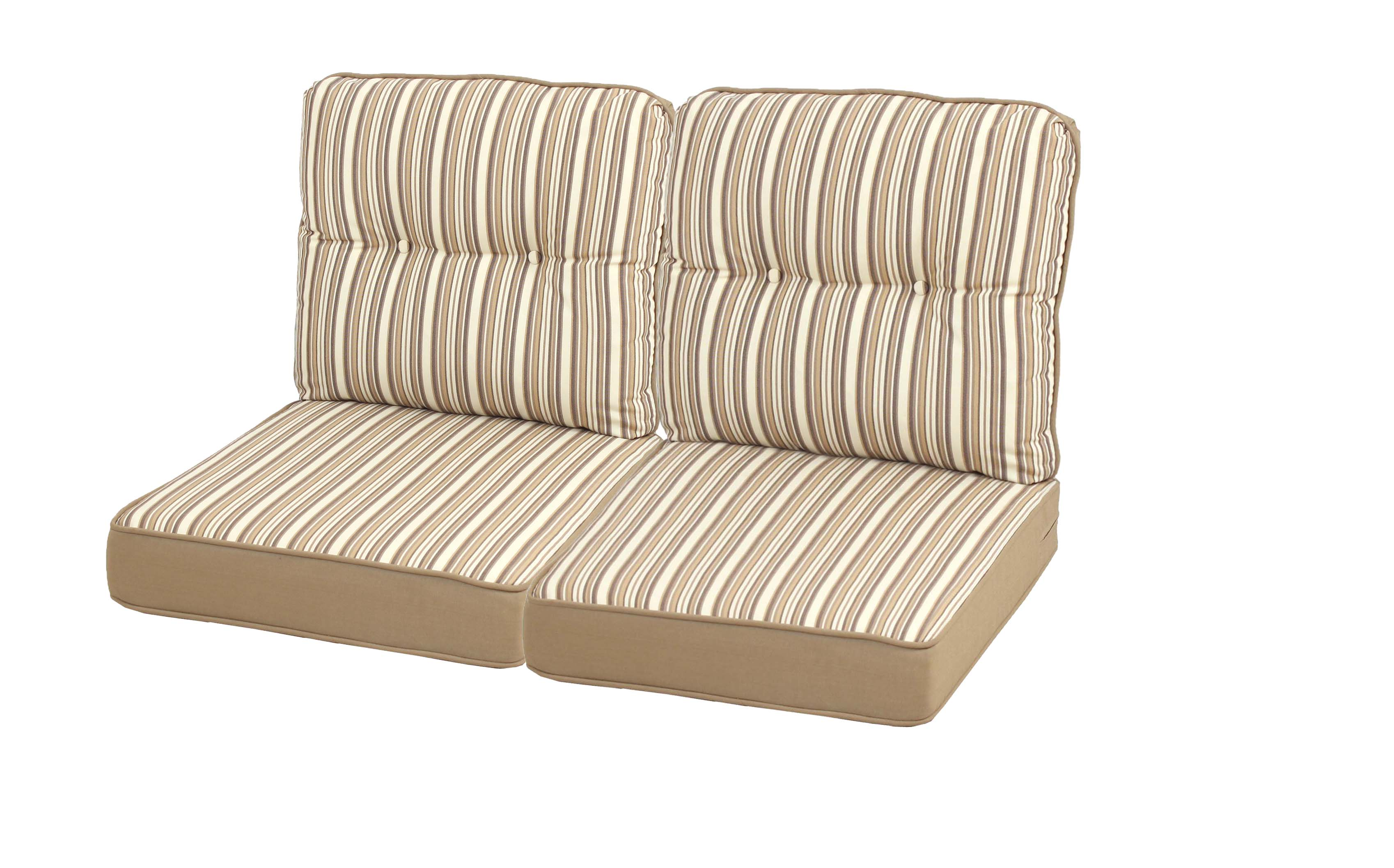 outdoor patio furniture replacement cushions Mayfield Replacement Loveseat Cushion Set