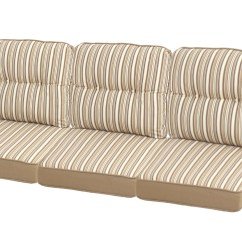 Replacement Garden Sofa Cushions Best Sleeper Sofas For Small Spaces Ty Pennington Style Mayfield 3 Seat Patio