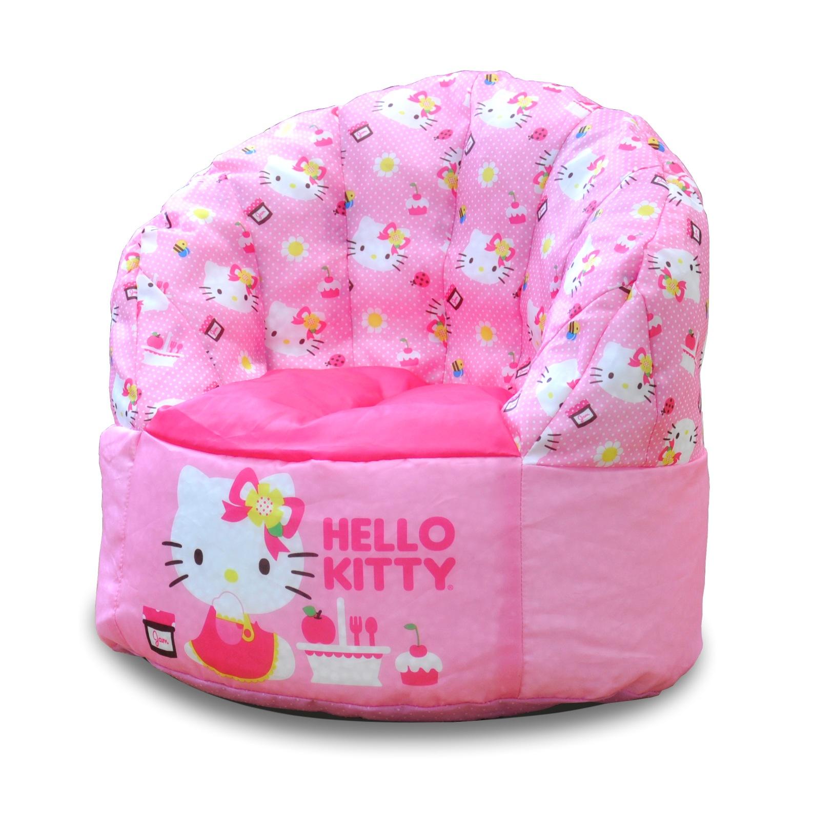 hello kitty desk chair homedics back massager bean bag kmart