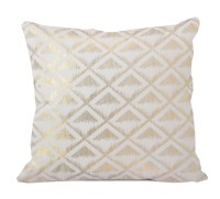 Metallic Triangle Decorative Pillow Gold - Home - Bed ...