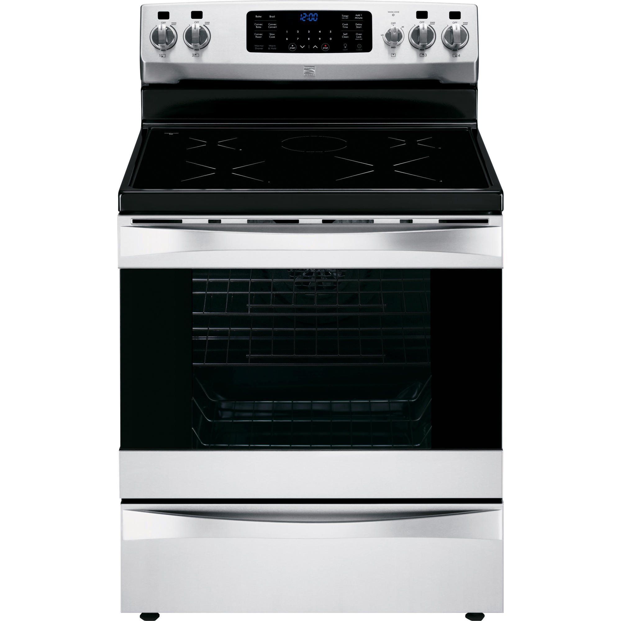 hight resolution of kenmore elite 95073 6 1 cu ft freestanding induction range w true convection stainless steel