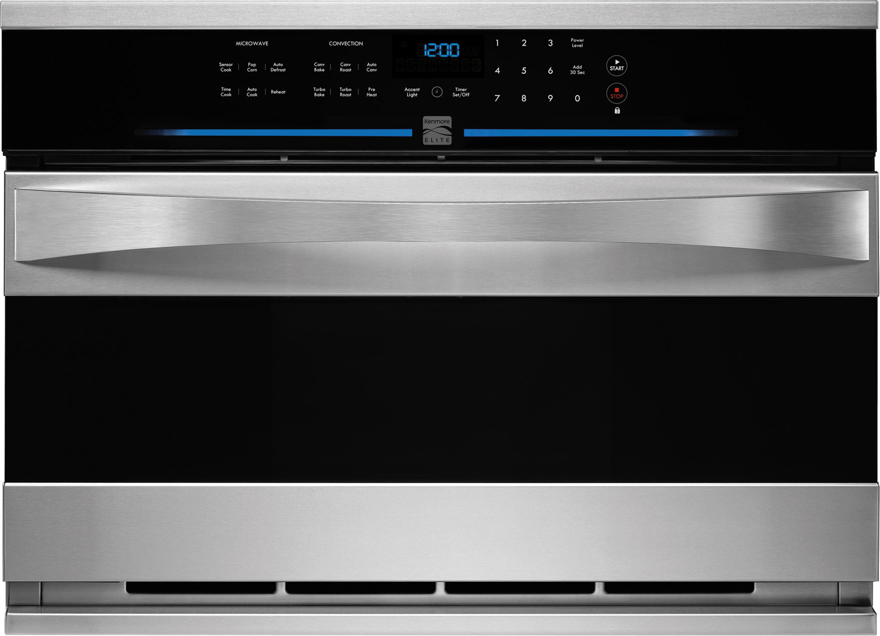 kenmore elite 48893 27 built in convection microwave stainless steel
