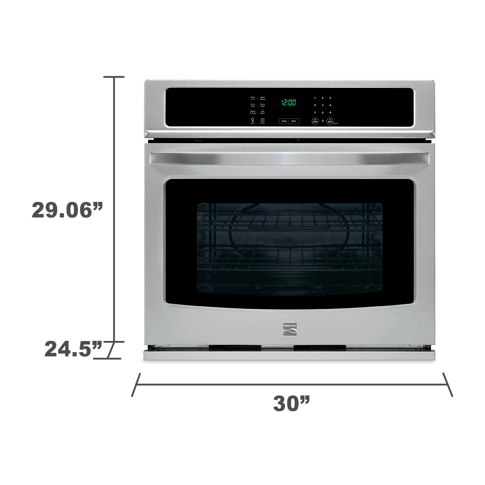 small resolution of kenmore 49423 30 electric self clean single wall oven stainless steel kenmore wall oven dimensions kenmore single wall oven wiring diagram
