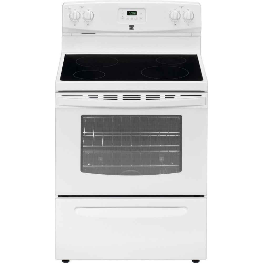 medium resolution of electric freestanding range white