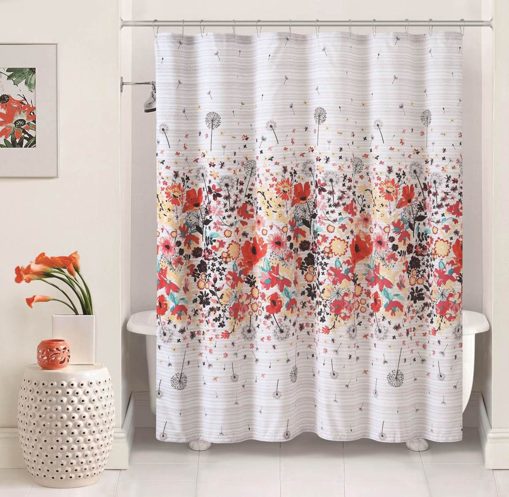Magnolia 72x72 Shower Curtain Multicolor Home Bed