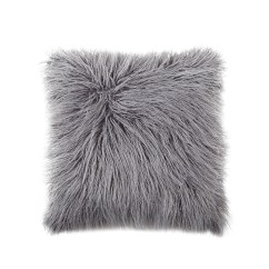Fuzzy Sofa Slipcover What Colour Cushions Go With Charcoal Grey Single Decorative Pillow Home Decor Pillows