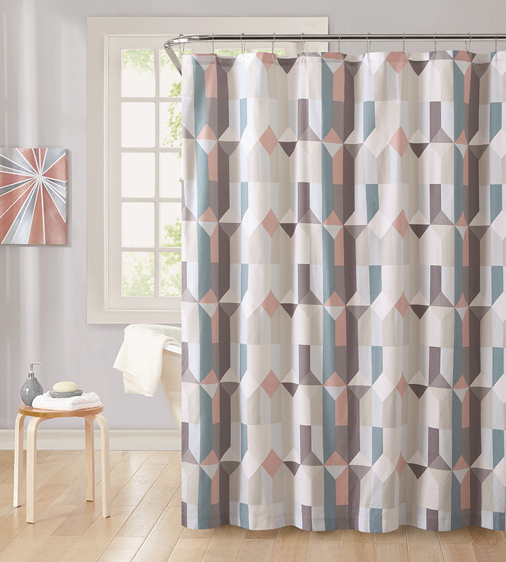 Metaphor Aspect Cotton Shower Curtain - Home Bed & Bath Curtains Vanity