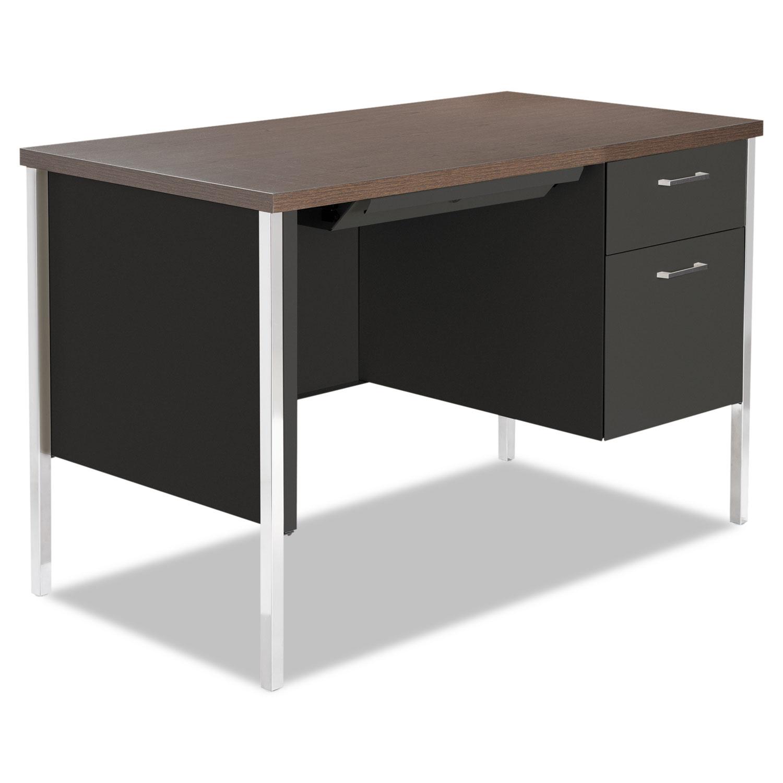 Alera Single Pedestal Steel Desk Metal 45-1