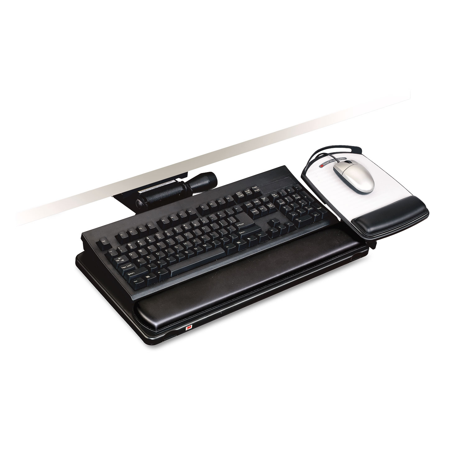 3m Mmmakt150le Easy Adjust Keyboard Tray Highly Adjustable Platform 23