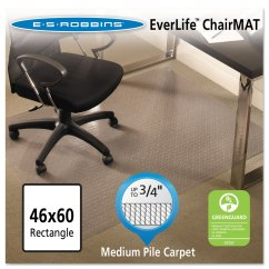 Es Robbins Chair Mat How To Cover Office With Fabric E S Everlife Mats For Medium Pile Carpet