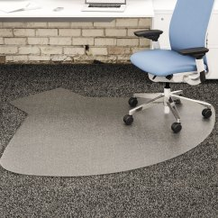 Clear Chair Mat Modern Leather Dining Chairs Uk Mats Sears Deflecto Supermat Vinyl For Firm Commercial Carpets Beveled 60 X 66