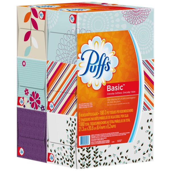 UPC 037000843276 Puffs Basic Facial Tissues 1080 CT PACK