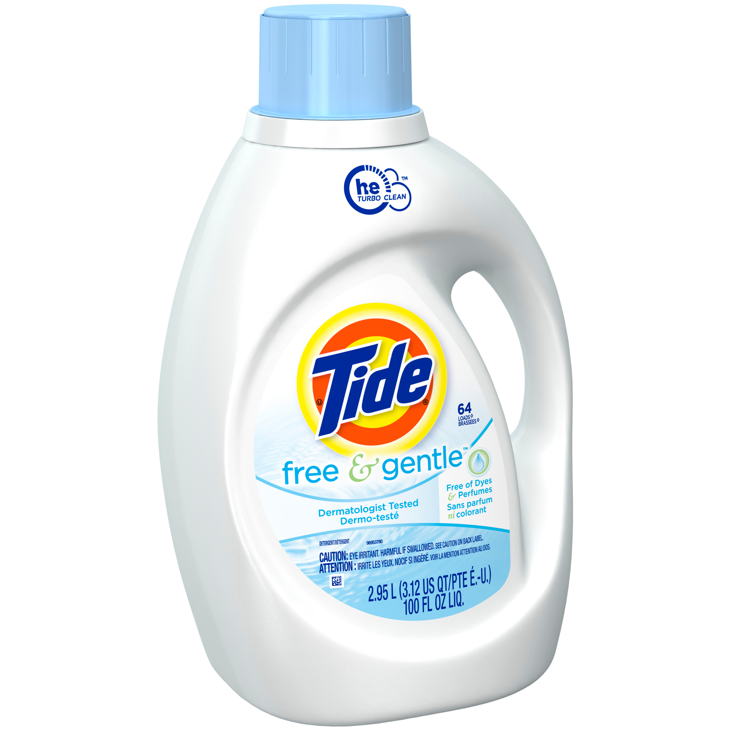 Tide Free and Gentle HE Liquid Laundry Detergent 100 fl oz