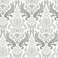 NuWallpaper Grey Nouveau Damask Peel and Stick Wallpaper ...