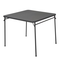 Cosco Card Table And Chairs Recall Pink Lawn Chair Home Office Products 34 Quot Black Resin Top Folding