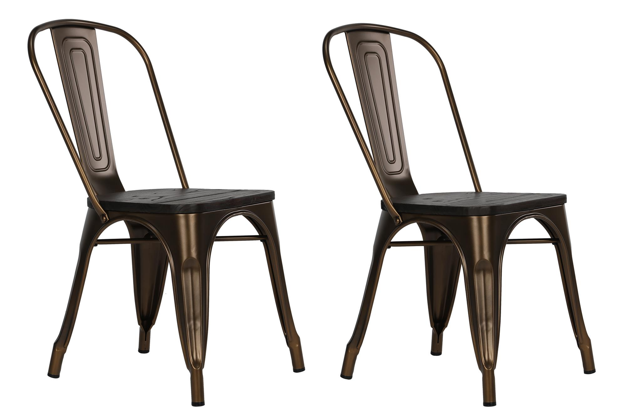 Wood And Metal Dining Chairs Dorel Fusion Antique Bronze Metal Dining Chair With Wood