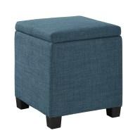 Storage Ottoman - Indigo Blue