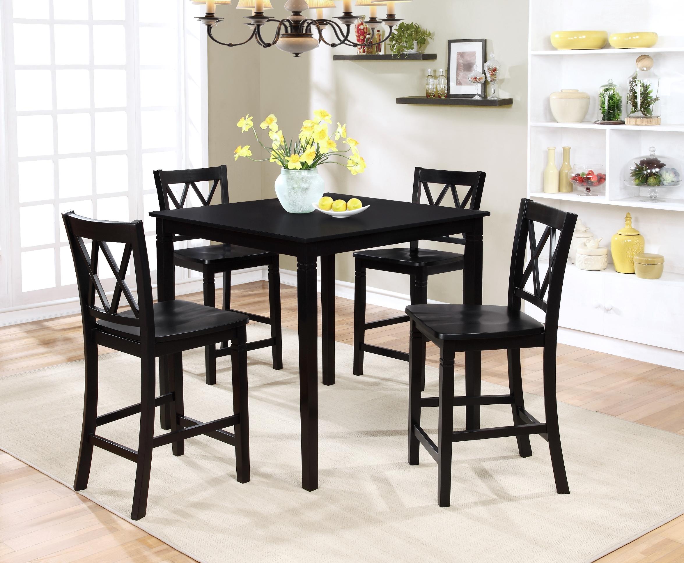 Essential Home Dahlia 5 Piece Square Table Dining Set