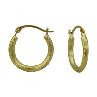 14k Diamond Cut Hoop Earrings | Kmart.com