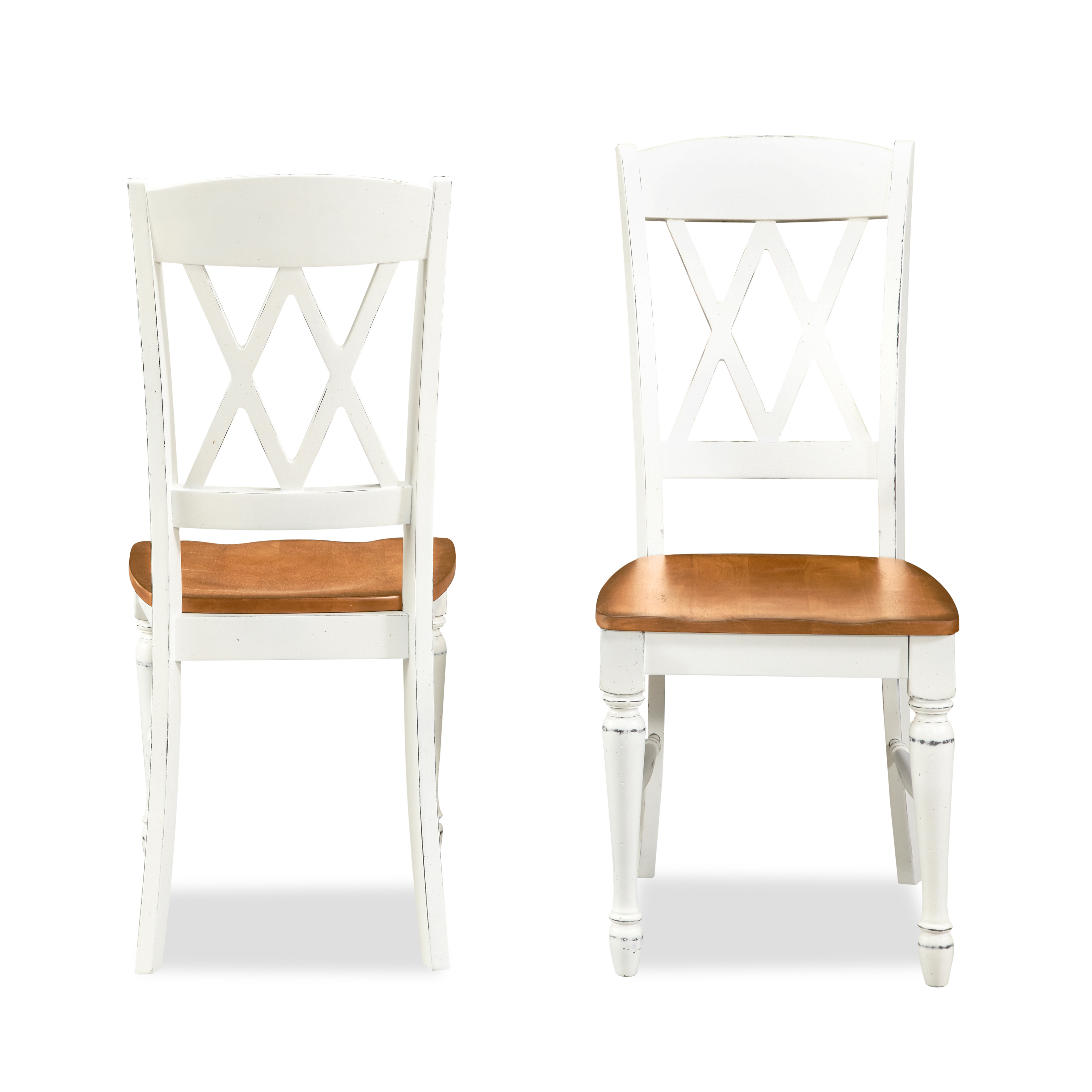 monarch double x back dining chairs white chair cushion covers home styles 2