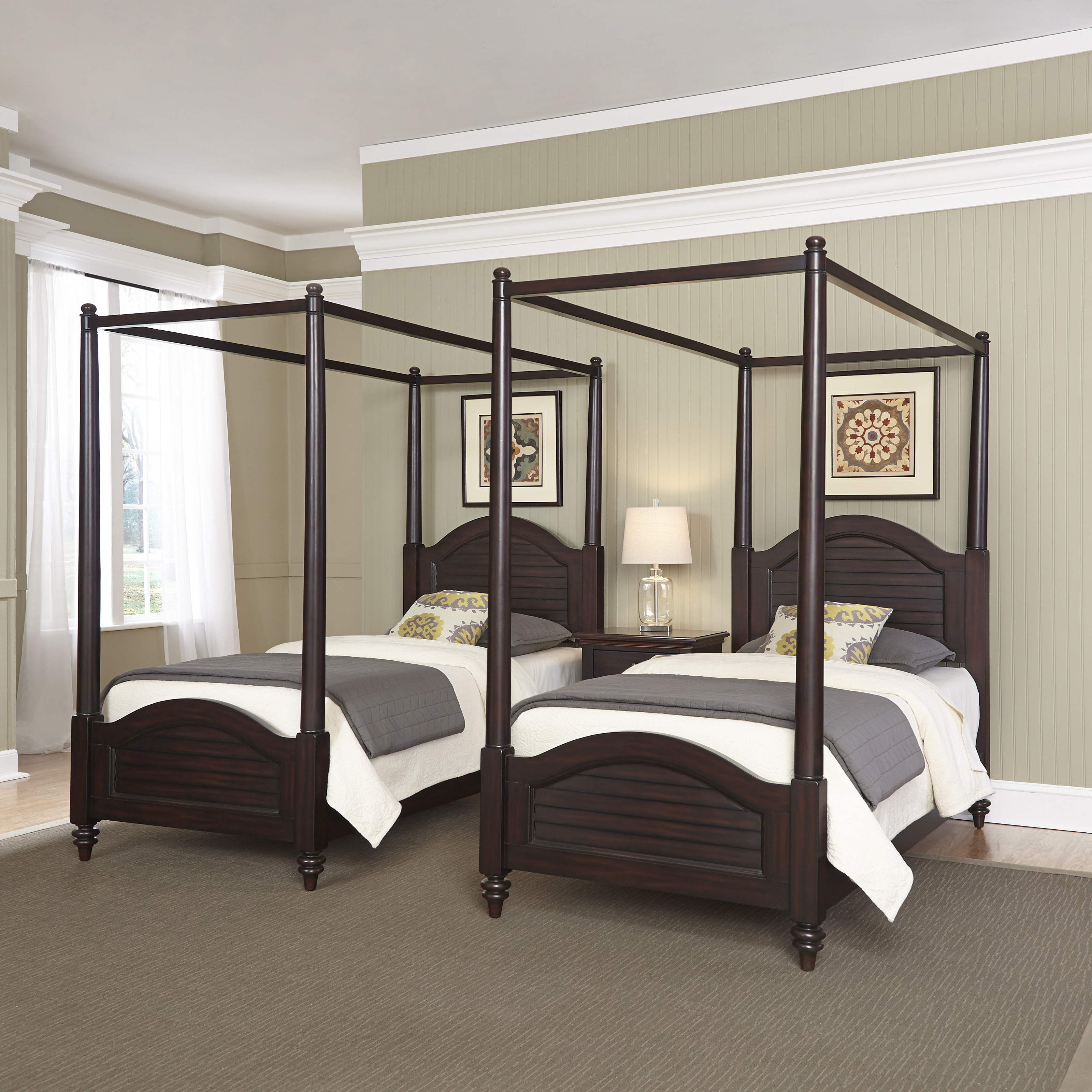Twin Canopy Beds