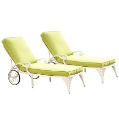 Green Lounge Chair Bed To Transfer Equipment Home Styles Biscayne White Chaise Chairs 2