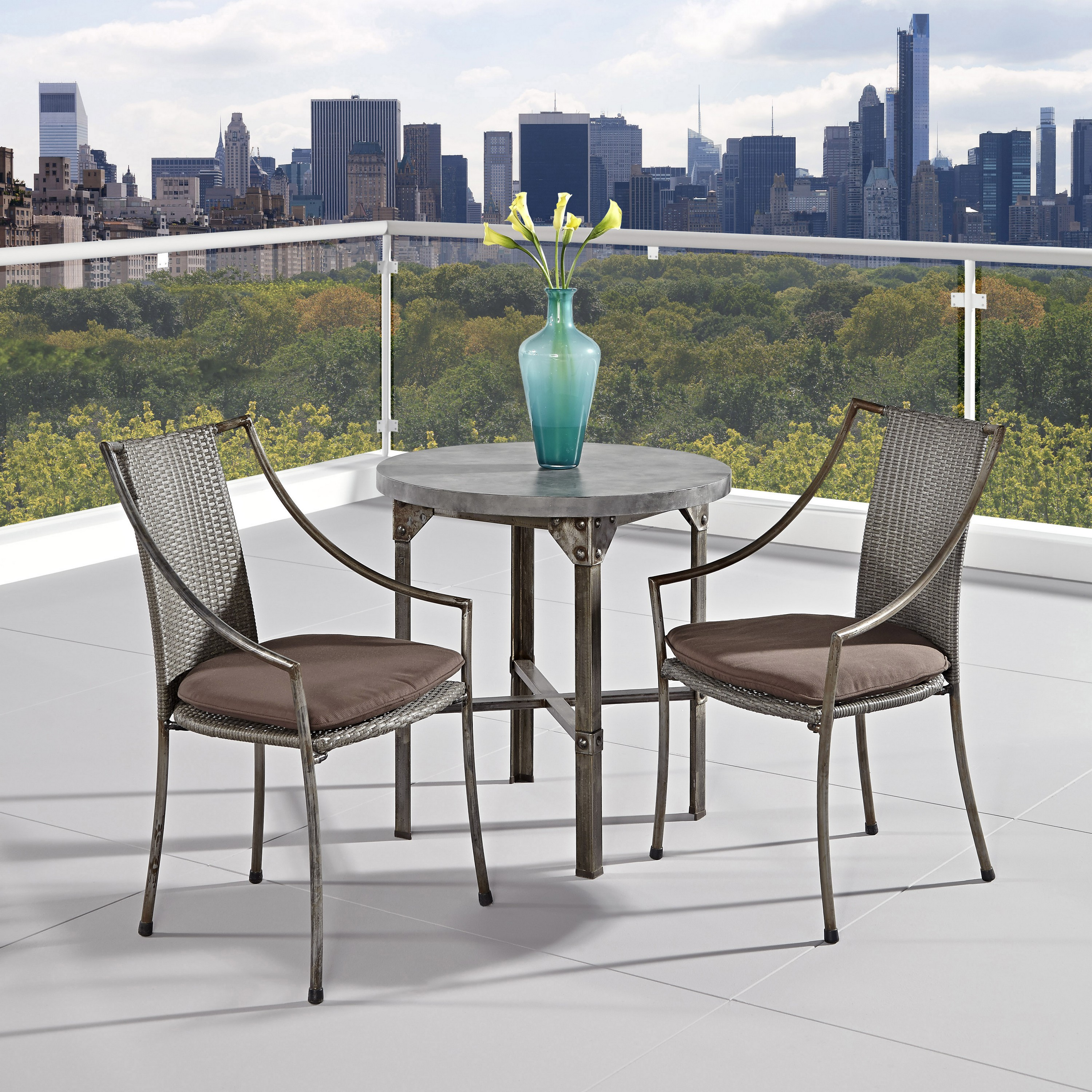 Home Styles Urban Outdoor 3pc Dining Set - Living