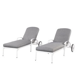 White Chaise Lounge Chair Desk Officeworks Home Styles Floral Blossom Chairs W
