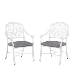 Floral Arm Chair For Babies Home Styles Blossom White Set Of Chairs W Cushion