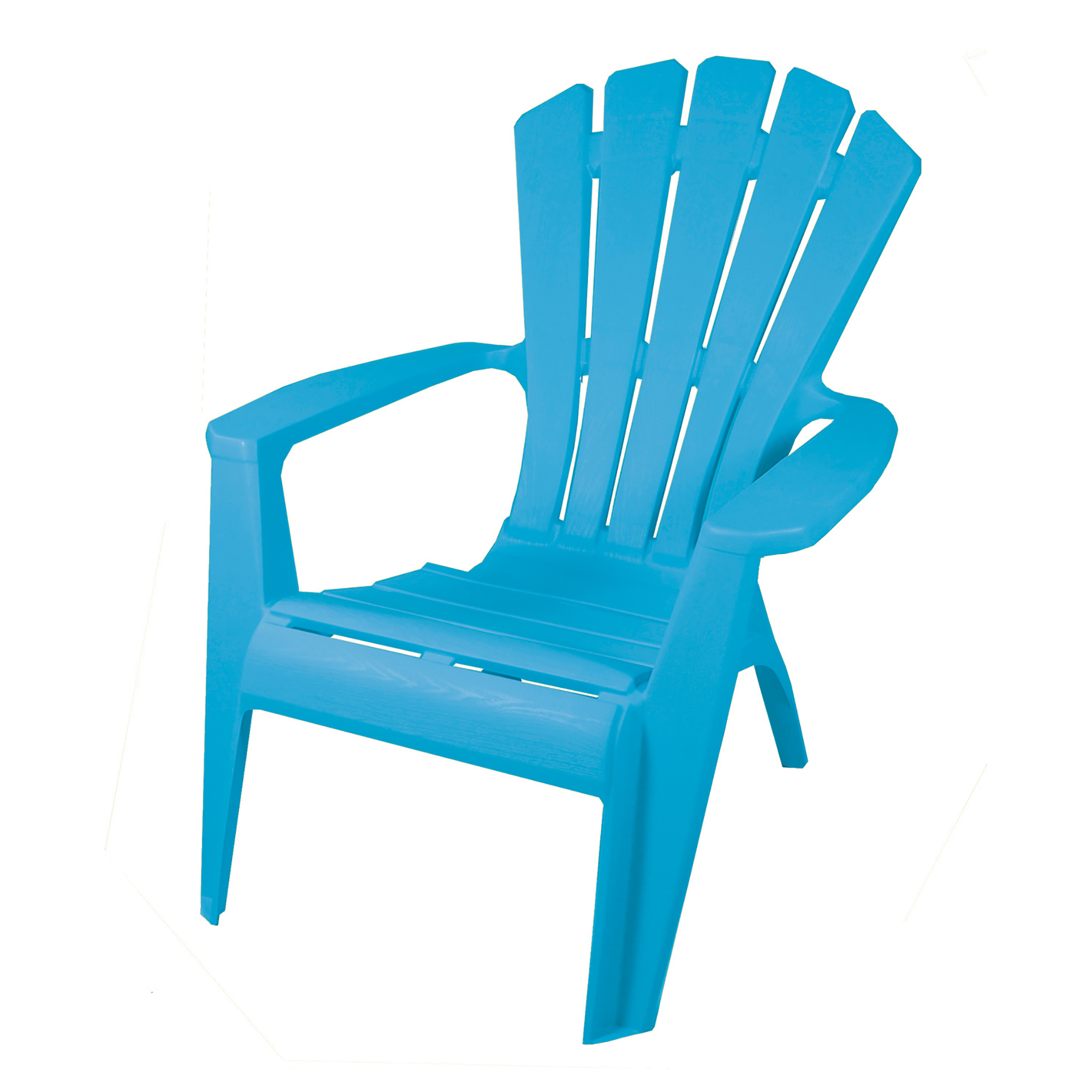 stackable resin adirondack chairs white rolling dining chair gracious living king vivid blue