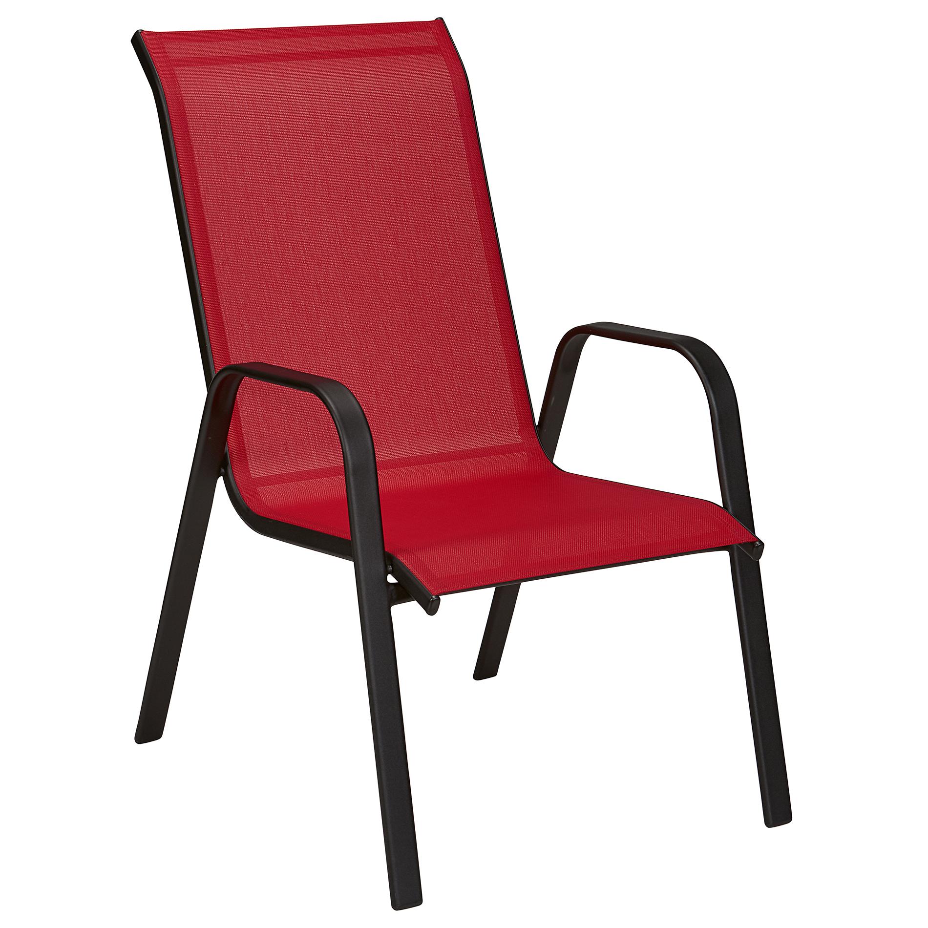 Essential Garden Bartlett Assorted Stack Chair Red