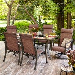Outdoor Chairs Kmart Rent Lift Chair Jaclyn Smith Marion 6 Dining In Brown Limited